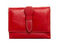 Женский кожаный кошелек 10*12,5*2,5 красный, фото 1