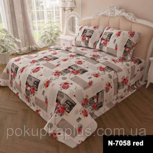 Комплект постельного белья Цветы 200х220 евро K-G-N-7058