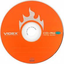 Чистый диск Videx CD-RW 700mb 4-12x bulk50