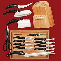 Набор профессиональных кухонных ножей Miracle Blade 13 в 1 SMU Shop