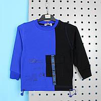 Детская кофта для мальчика с карманом синяя тм Fagis размер 92,98,104,110