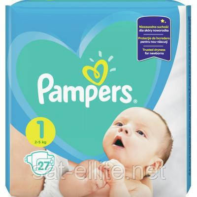 Подгузник Pampers New Baby Newborn Размер 1 (2-5 кг), 27 шт. (8001090910080)