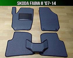 ЕВА коврики на Skoda Fabia II '07-14. Ковры EVA Шкода Фабия