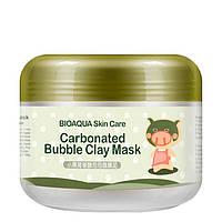 Глиняна бульбашкова маска для обличчя Bioaqua Carbonated Bubble Clay Mask