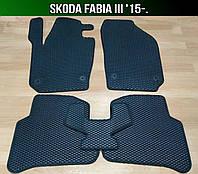 ЕВА коврики на Skoda Fabia III '15-. Ковры EVA Шкода Фабия, фото 1