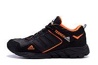 Мужские кожаные кроссовки Adidas Terrex  Orange (реплика), фото 1