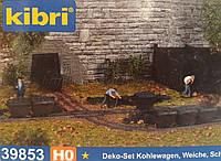 KIBRI 39853 Модели угольных вагонеток, масштаб H0,1/87