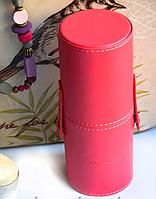 Профессиональный набор кистей MAC 12 шт Розовый тубус Mac Cosmetics  кисти  кисточки