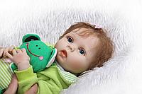 Кукла реборн Женя 53 см полностью виниловая Reborn doll