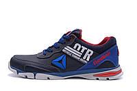 Мужские кожаные кроссовки Reebok Tech Flex Blue (реплика), фото 1