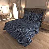 Комплект постельного белья Квадрат Евро K-G-N-7418-A-blue