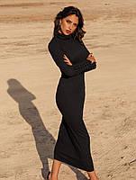 Трикотажное сдержанное платье. Женская одежда