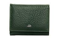 Женский кожаный кошелек 8,5*10,5*2,5 зеленый, фото 1