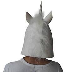 Резиновая маска единорог, латексная маска единорога, маска животного, косплей единорога, фото 2