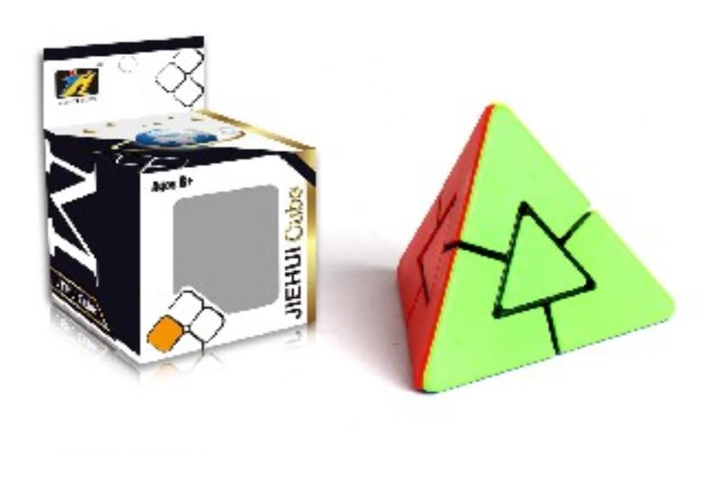 Кубик Рубик 716 логика пирамида треугольный, в коробке 7*7*10см