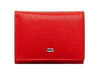 Женский кожаный кошелек 8,5*10,5*2,5 красный, фото 1