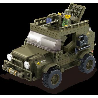Конструктор SLUBAN серии Армия Сухопутные войска Армейский джип M38-B0299, 217 деталей
