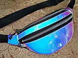 Женская сумка на пояс Отличное качество глянцевый Аврора Цвет искусств кожа только оптом, фото 2