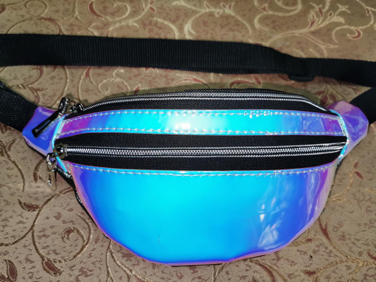 Женская сумка на пояс Отличное качество глянцевый Аврора Цвет искусств кожа только оптом