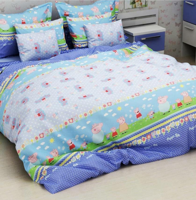 Детское полуторное постельное белье Свинка Пепа