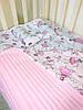 Набор в детскую кроватку (простынь, плед, подушка) Балерины №11, фото 8