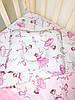 Набор в детскую кроватку (простынь, плед, подушка) Балерины №11, фото 7