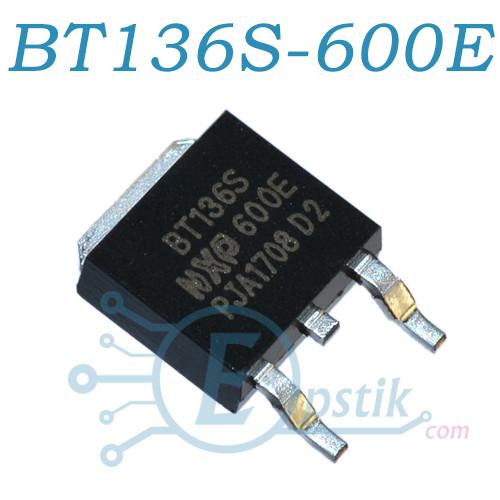 BT136S-600E, симистор, 600В, 4А, TO252