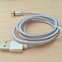 Магнитный кабель, зарядка, зарядный кабель, Floveme micro usb Серебряный, фото 3