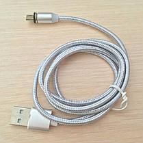 Магнитный кабель, зарядка, зарядный кабель, Floveme micro usb Серебряный, фото 2