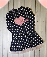 Красивое оригинальное платье с яркой нашивкой для девочек,см.замеры в описании!!!, фото 1