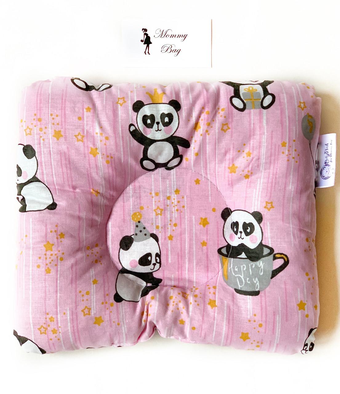 Ортопедическая подушка для новорожденных Розовые Панды №14