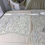 Комплект постельного белья сатин c гипюром  ТМ Gardine's Mila bej, фото 3