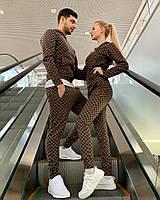 Спортивный парный костюм Gucci мужской и женский | Гуччи топ реплика Турция