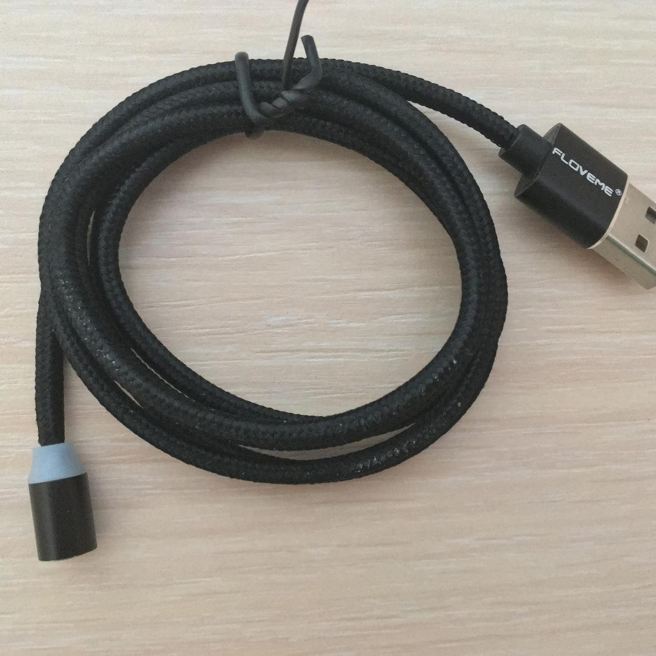 Магнитный кабель, зарядка, зарядный кабель, Floveme type C Черный