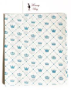 Пеленка ситец Синие короны #15
