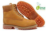 Ботинки Classic Timberland 6 inch Yellow Winter Fur