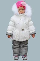 """Зимний комбинезон на девочку """"Снежинка белый"""""""