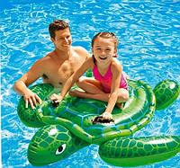 Детский надувной плотик для катания Intex 57524 «Черепаха», 150 х 127 см