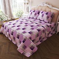 Комплект постельного белья Квадрат двуспальный K-G-N-7284-violet