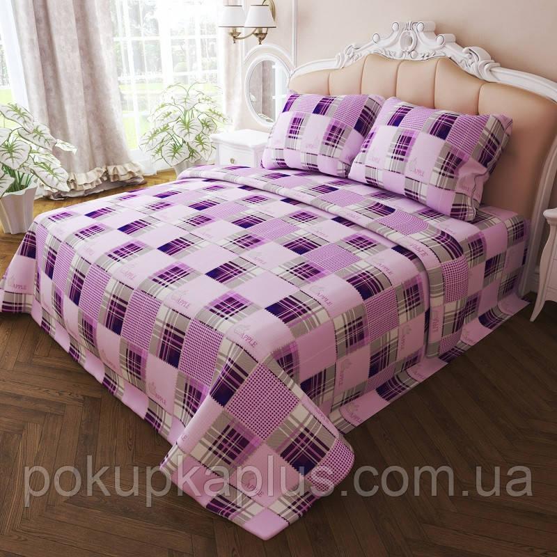 Комплект постельного белья Квадрат Евро K-G-N-7284-violet