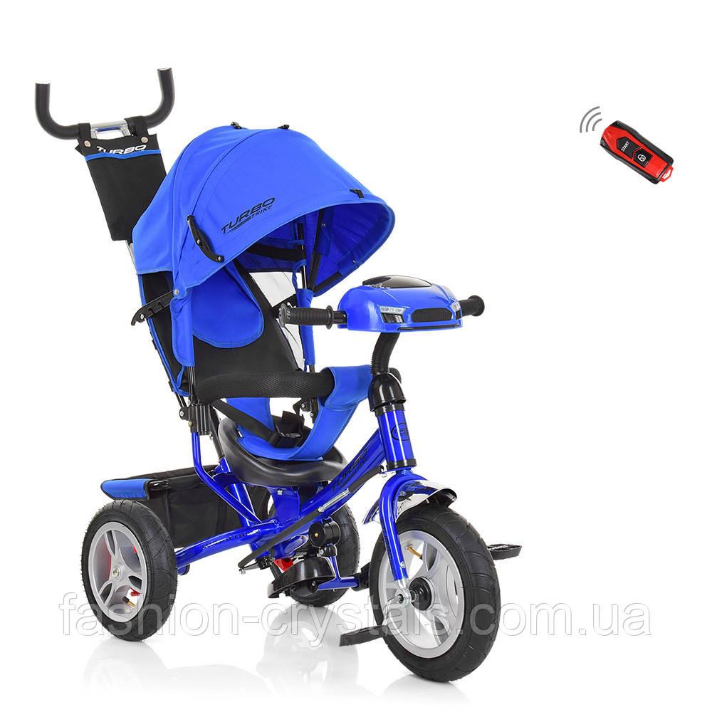 Трехколесный велосипед Turbo Trike с надувными колесами и фарами M 3115