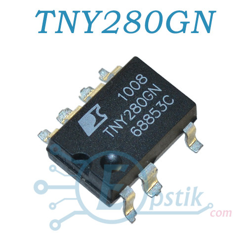 TNY280GN, ШИМ-контроллер Low Power Off-line switcher, 132гКц, SMD7