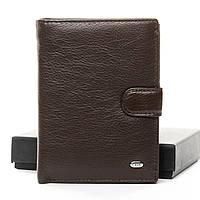 Мужское кожаное портмоне DR. BOND M1  coffee.Мужские портмоне оптом и в розницу., фото 1