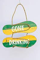 """Вывеска - сланцы """"Gone drinking"""", 30*20 cм, фото 1"""