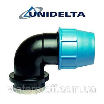 """Коліно затискне з внутрішньою різьбою 110х4"""" Unidelta"""