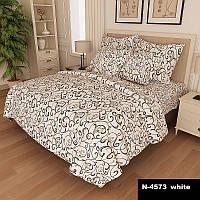 Комплект постельного белья Вензель Полуторный K-G-N-4573-white