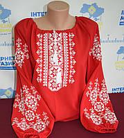 """Шифонова блузка з вишивкою """"Візерунки"""""""