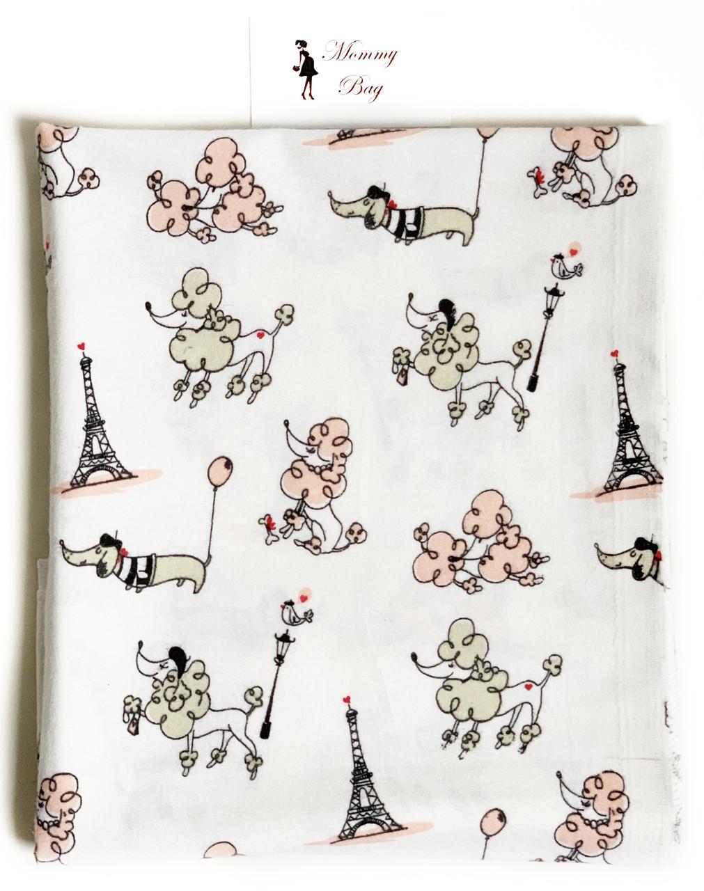 Фланелевая пеленка байковая Париж #5