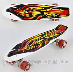 Скейт (Пенни Борд) доска=55см, колёса PU, СВЕТЯТСЯ, d=6см Best Board F 4380