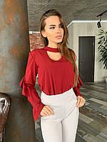 Блуза женская с воланами